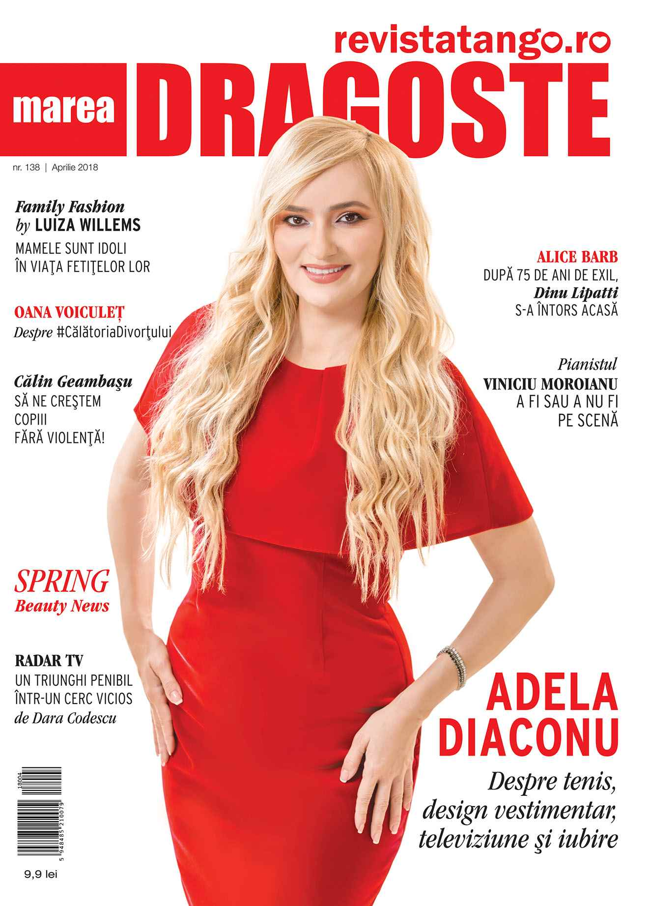 Adela Diaconu pe coperta Marea Dragoste-revistatango.ro, nr. 138, aprilie 2018